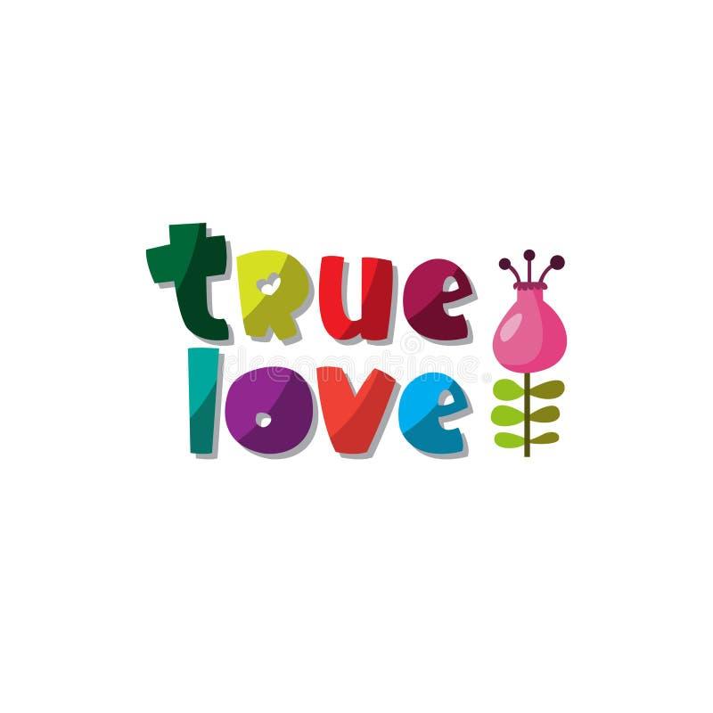 A soletração original do ` verdadeiro do amor do ` da frase ilustração royalty free