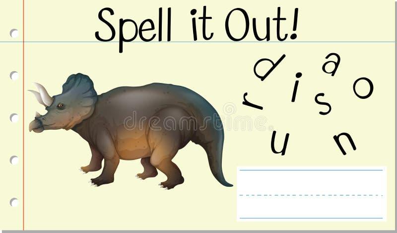 Soletre-o para fora dinossauro ilustração royalty free