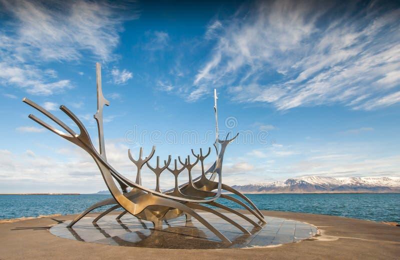 Solfar, The Sun-Reiziger in Reykjavik IJsland royalty-vrije stock afbeelding