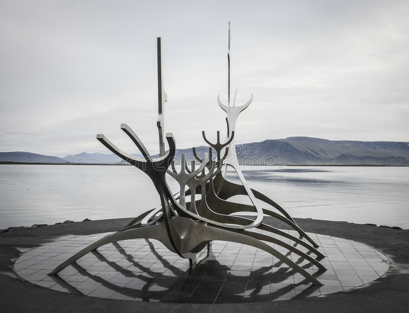 Solfar, The Sun Voyager, Reykjavik, Iceland obraz stock