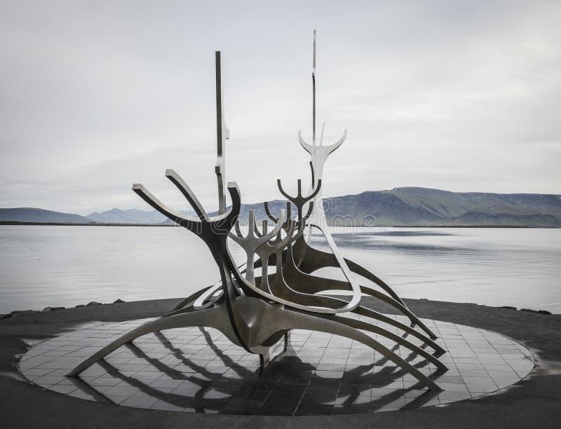 Solfar, viajero de The Sun, Reykjavik, Islandia imagen de archivo