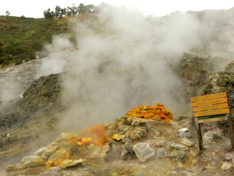Solfatara вулкана Pozzuoli в Италии около Neaples стоковые изображения