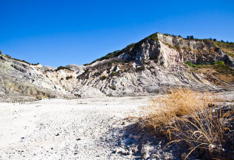 Solfatara - vulkanische krater stock fotografie