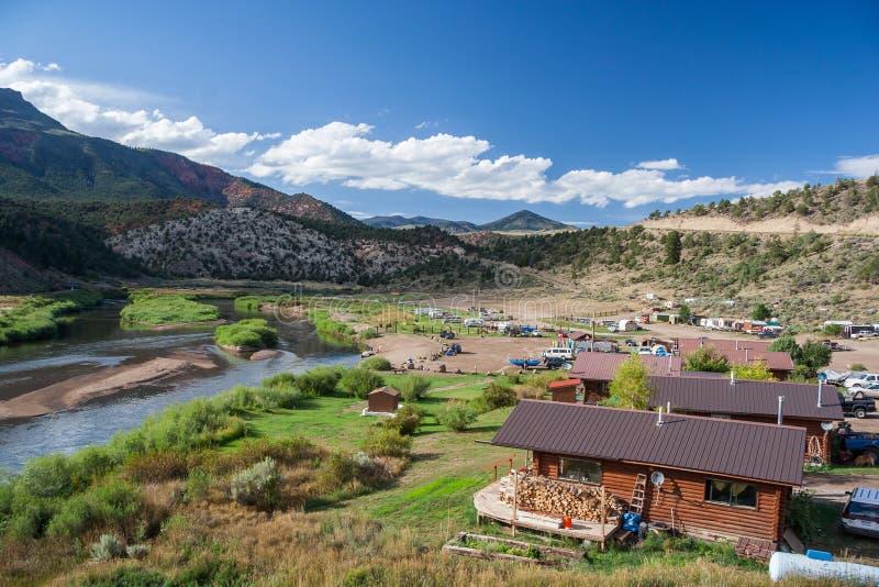 Solfatare calde sul fiume Colorado Colorado U.S.A. fotografia stock libera da diritti