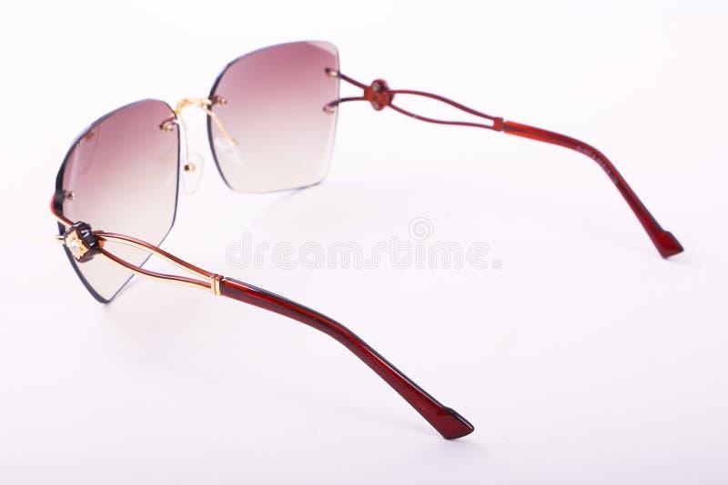 Solglasögon för moderna kvinnor arkivfoto