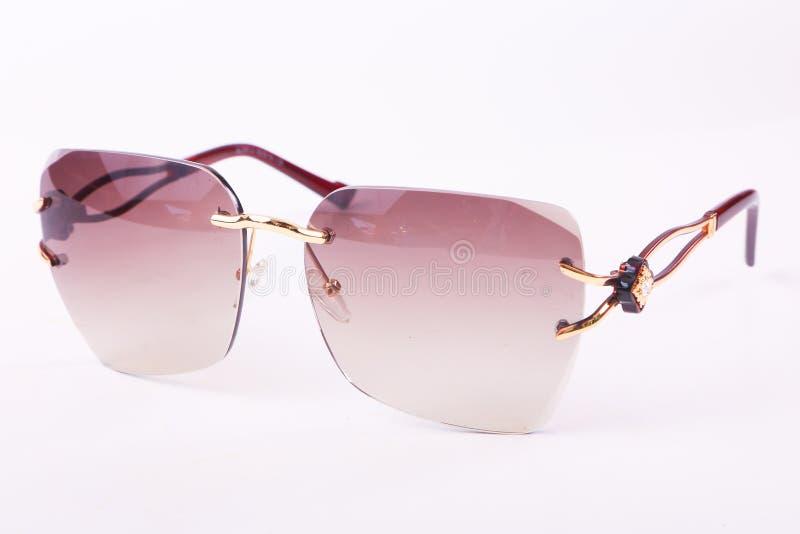 Solglasögon för moderna kvinnor royaltyfria foton