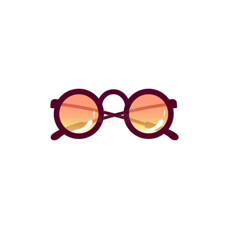Solglasögon för tappning för vektortecknad filmstrand moderiktig royaltyfri illustrationer
