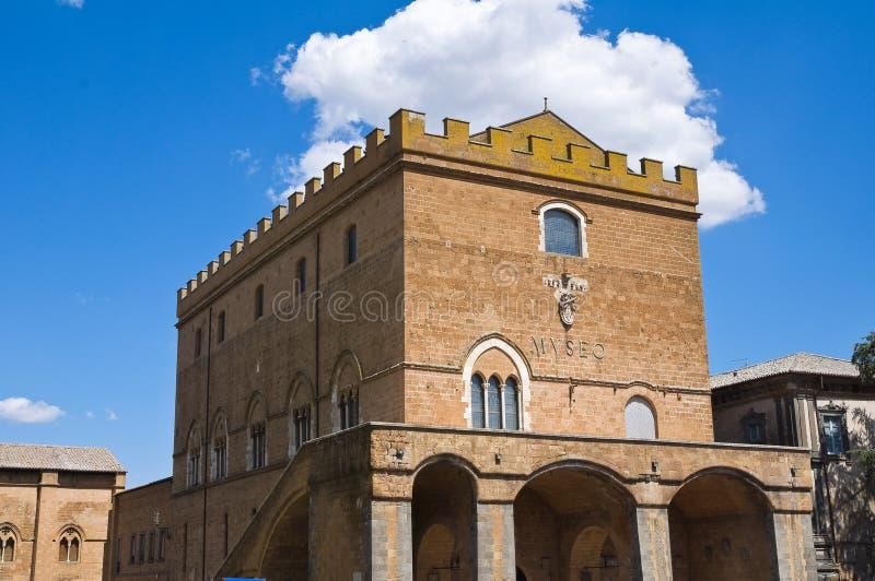 Soliano pałac. Orvieto. Umbria. Włochy. zdjęcie royalty free