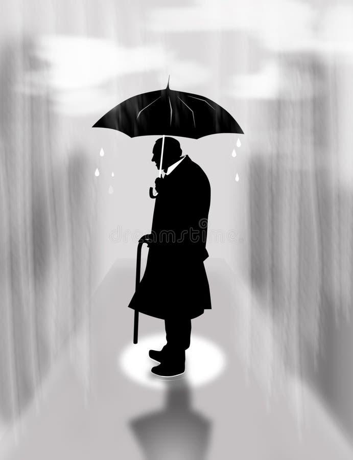 Solidão, chuva