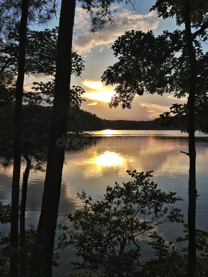 Solidão de Lakeview, North Carolina imagem de stock