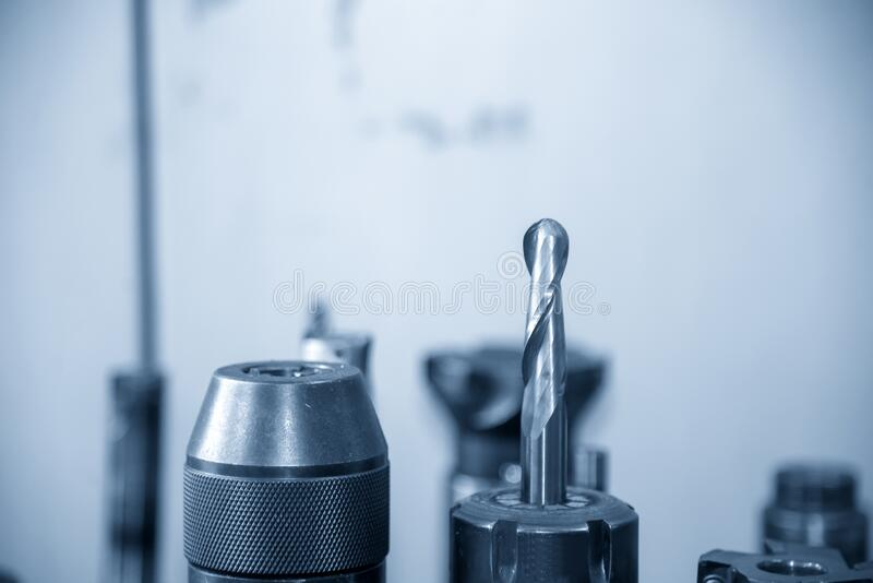 The solid ball endmill tool for CNC milling machine. The  solid ball endmill tool for CNC milling machine. The cutting tools for machining center ,ball endmill stock photo