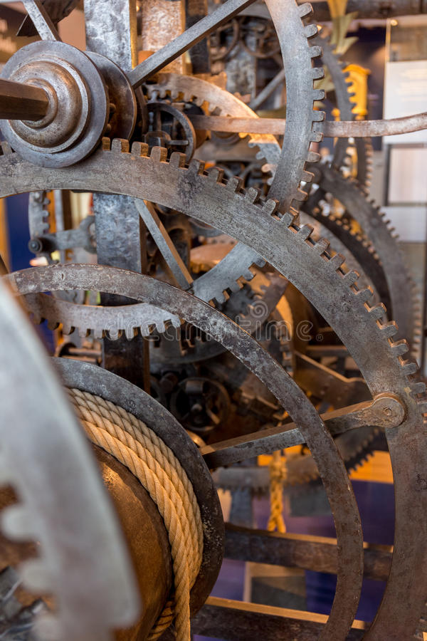 Solid gears royalty free stock image