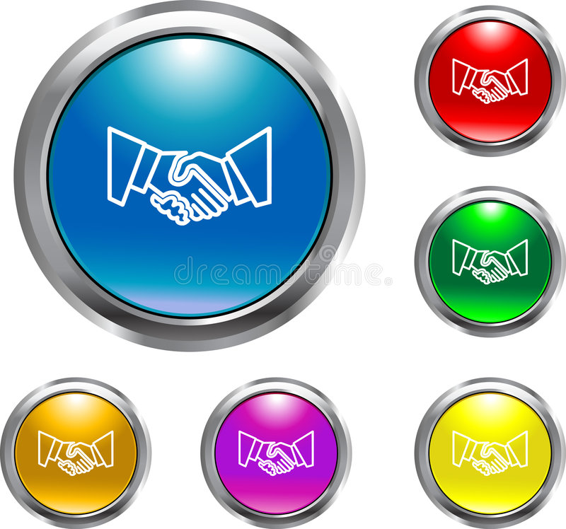 Download Solid Handshake Button stock vector. Image of internet - 4636368