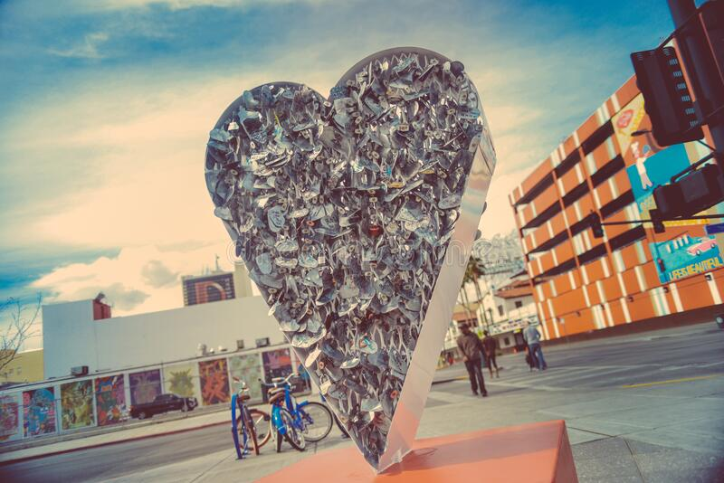 Solid heart as sculpture stock images