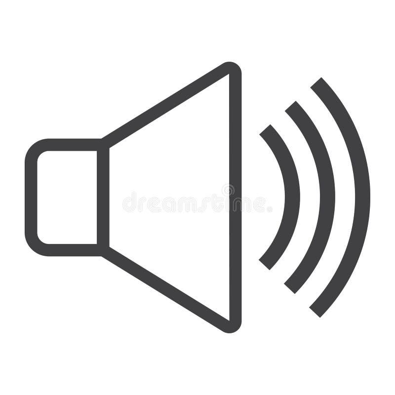 Solid linje symbol, rengöringsduk och mobil, stämmatecken royaltyfri illustrationer