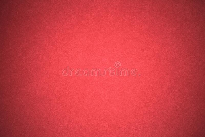 Solid red background paper with vintage grunge texture design stock photography