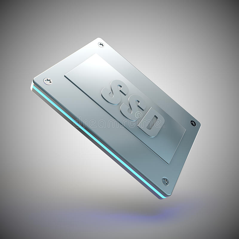 Solid state drive royalty free illustration