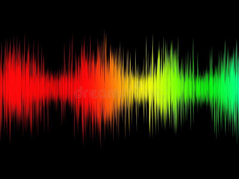 Solid våg för abstrakt svartvit ljudsignal musik royaltyfri bild