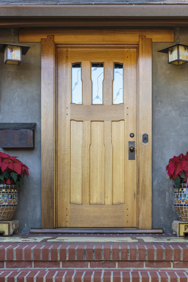 Charmant Download Solid Wood Front Door Stock Photo. Image Of Style, Holiday    66539962