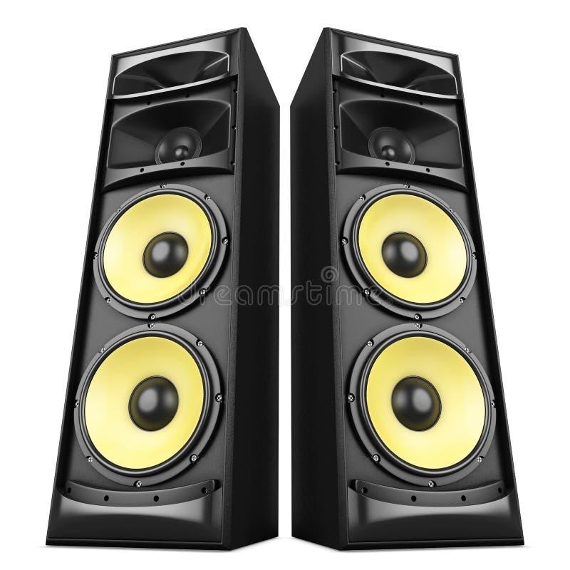 Solida högtalareaskar stock illustrationer