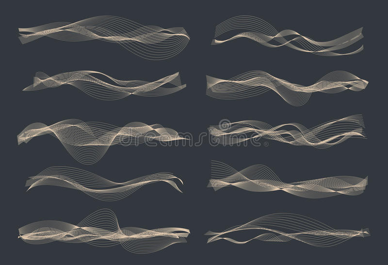Solida vågor för vektormusik vektor illustrationer