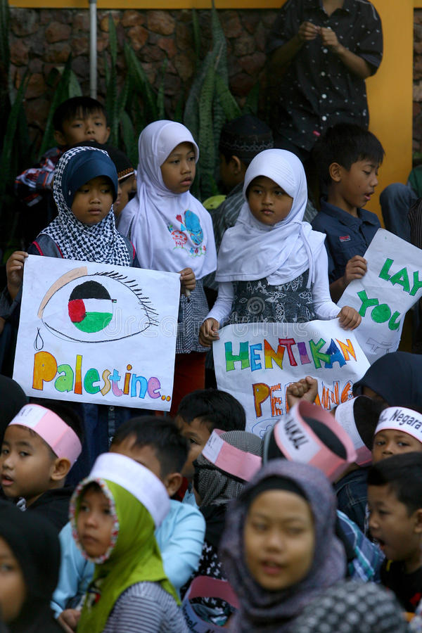 Solidarität des Palästinensers stockfoto