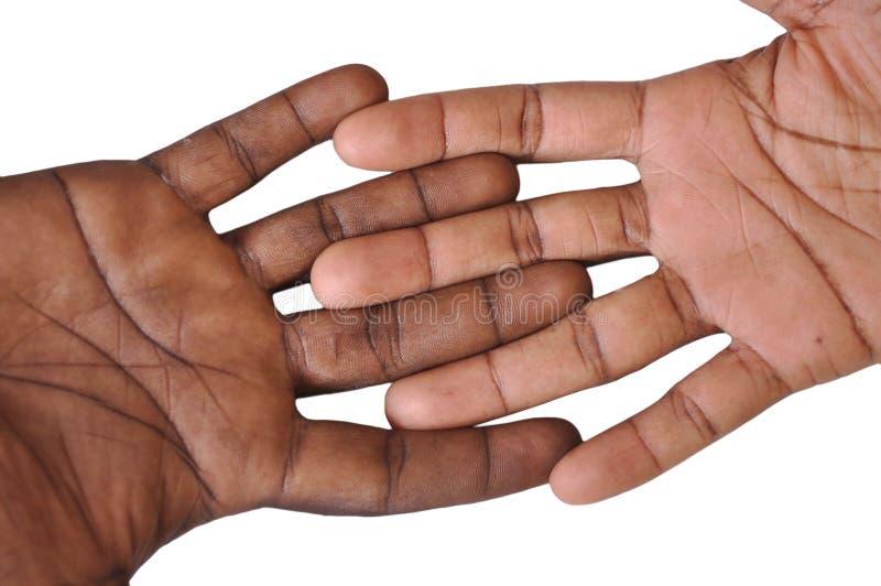 Solidaritetgest av händer royaltyfri fotografi