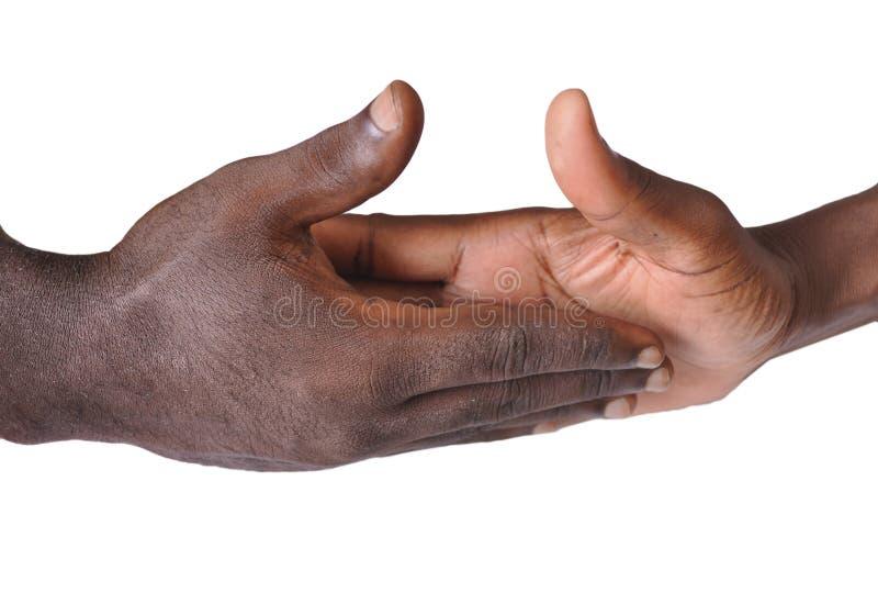 Solidaritetgest av händer royaltyfria bilder