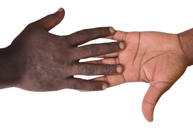 Solidaritetgest av händer arkivfoton