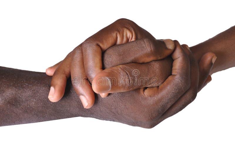 Solidaritetgest av händer royaltyfria foton