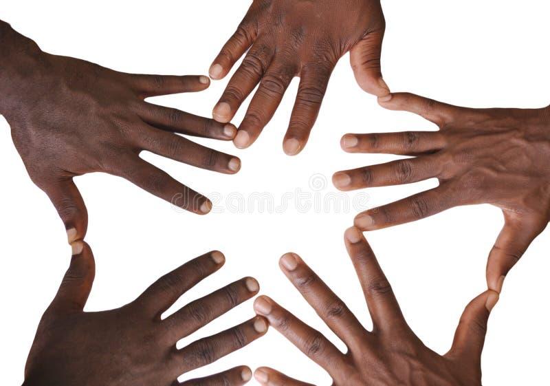 Solidaritetgest av händer royaltyfri bild