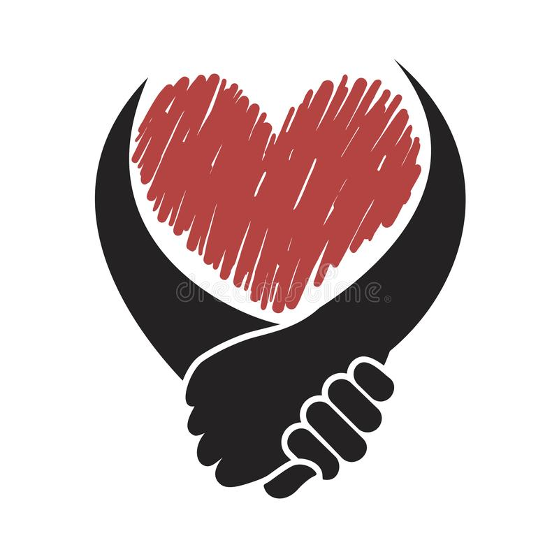 Solidarności serca symbol royalty ilustracja