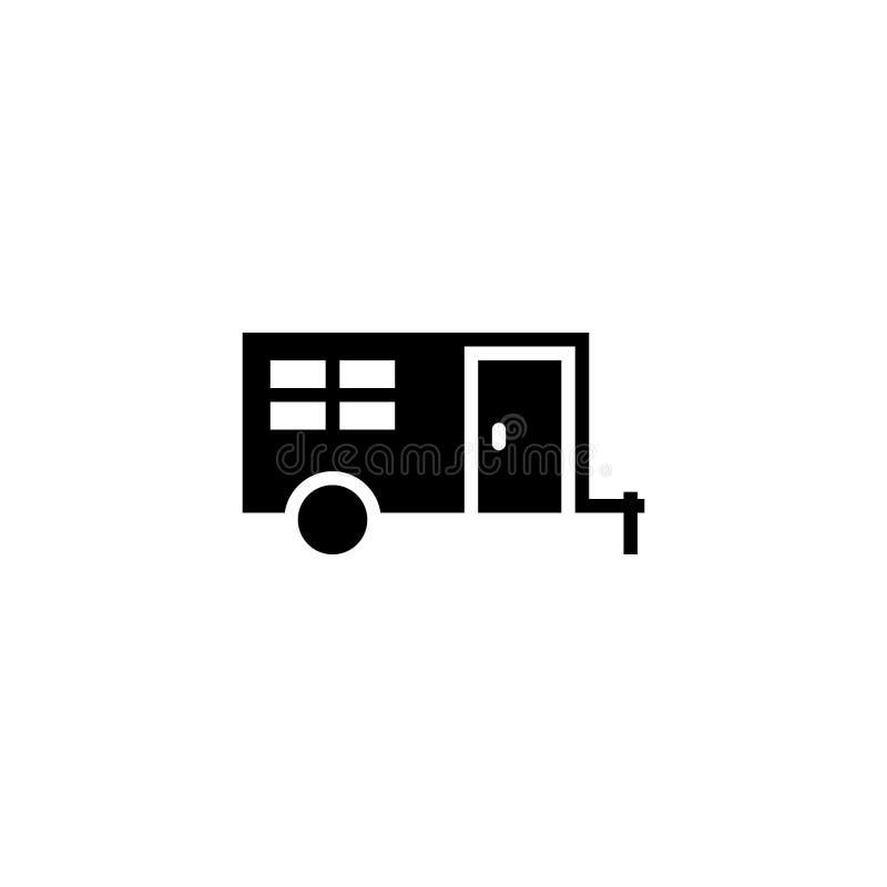 Solide d'icône de campeur actions d'icône de véhicule et de transport illustration stock
