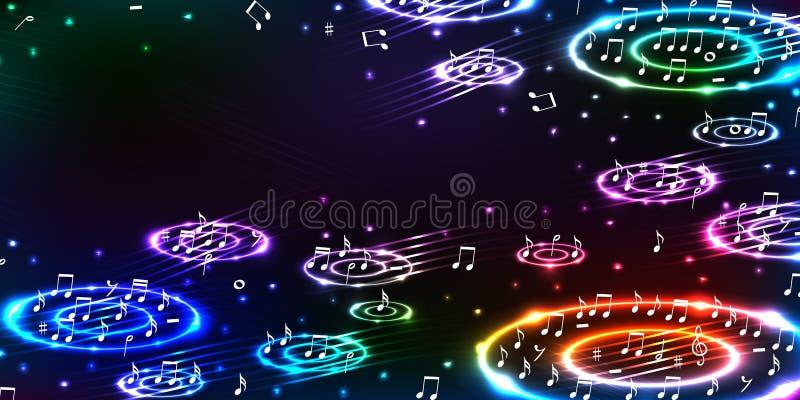 Solide horizontale Bass-Fahne der Musik stock abbildung