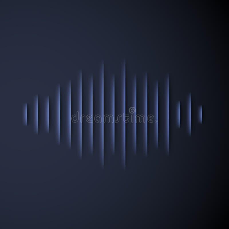Solide Papierwellenform mit Schatten vektor abbildung
