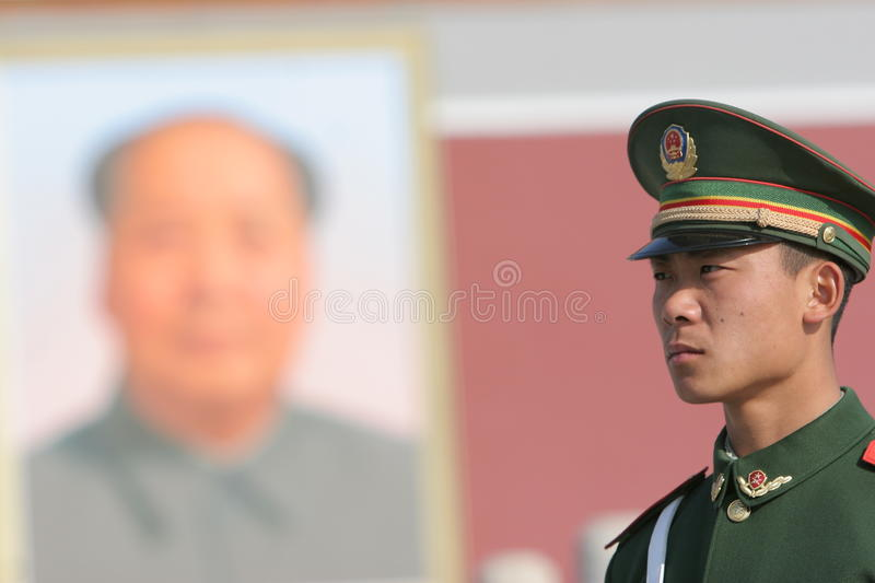 Solider chinois image stock