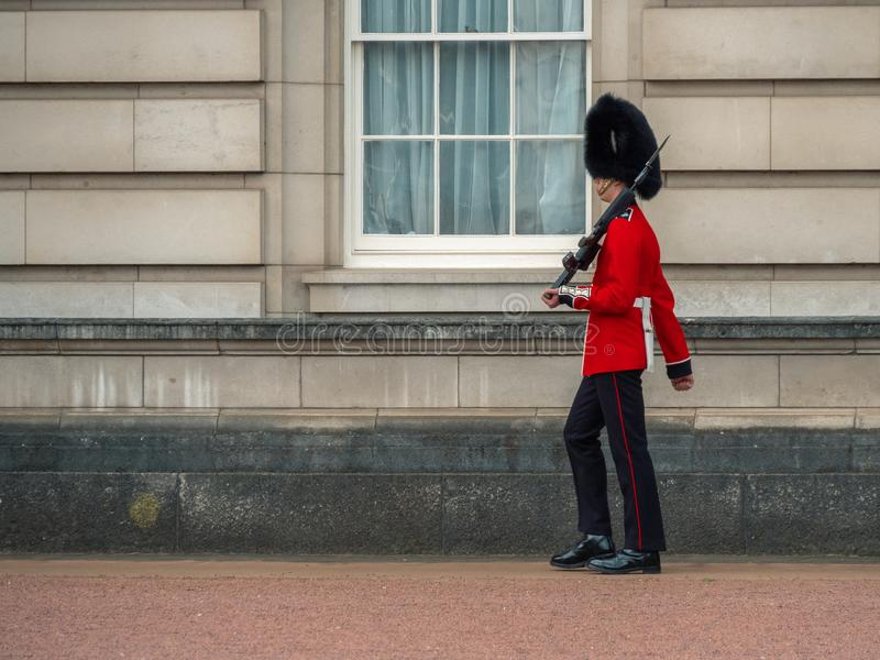 Solider del Buckingham Palace, Londres Inglaterra imagen de archivo libre de regalías