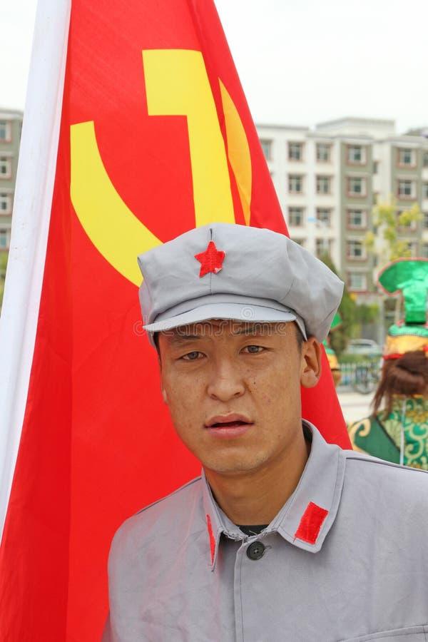 Solider för röd armé i likformig royaltyfria foton