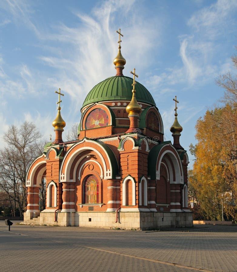 Solides solubles. Peter et temple de Paul. Lipetsk. La Russie. photo stock