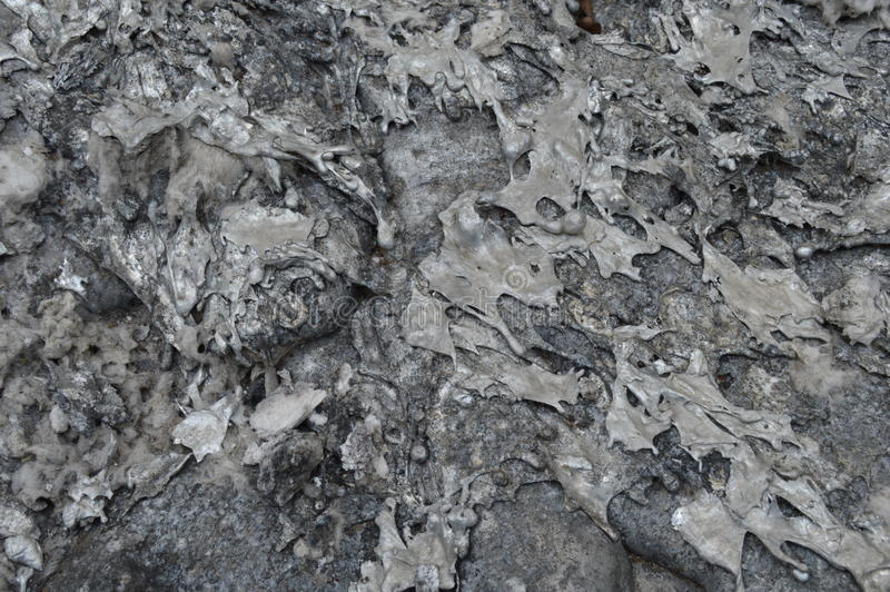 Solidified liquid aluminum royalty free stock images