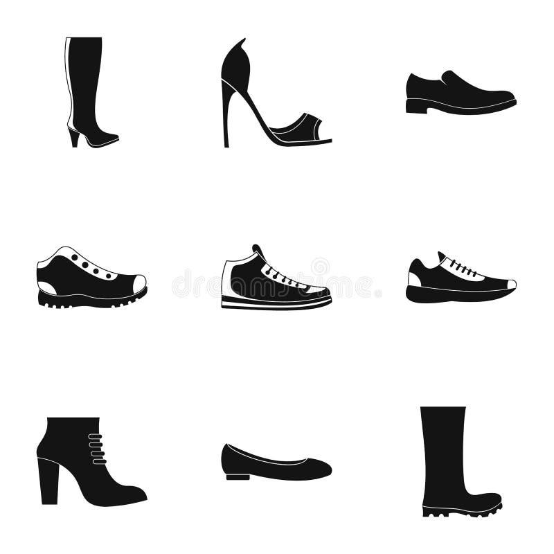 Solidne but ikony ustawiać, prosty styl royalty ilustracja