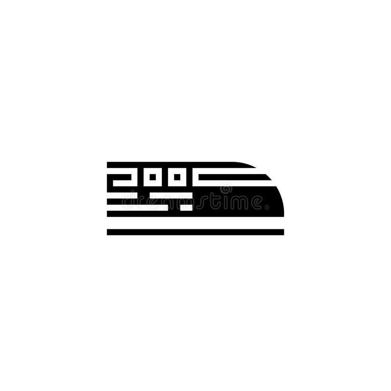 Solido dell'icona del treno di pallottola azione dell'icona del trasporto e del veicolo royalty illustrazione gratis