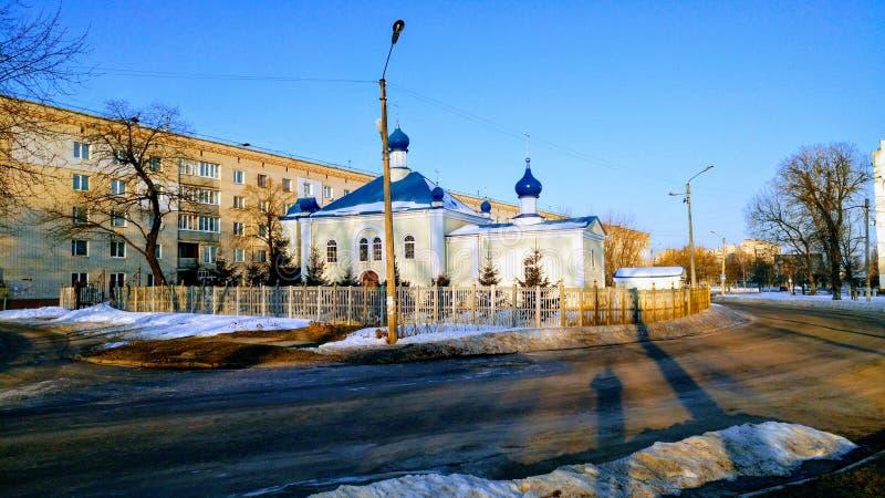 Solig kyrka arkivbild