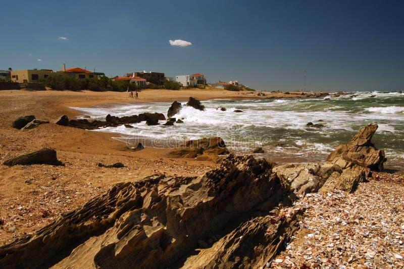 solig strand arkivbild