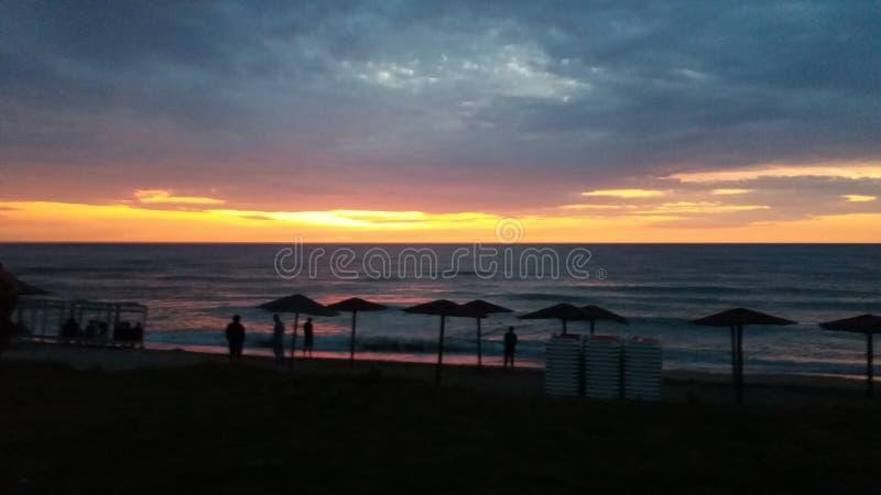 Solig strand för Vama veche arkivfoto