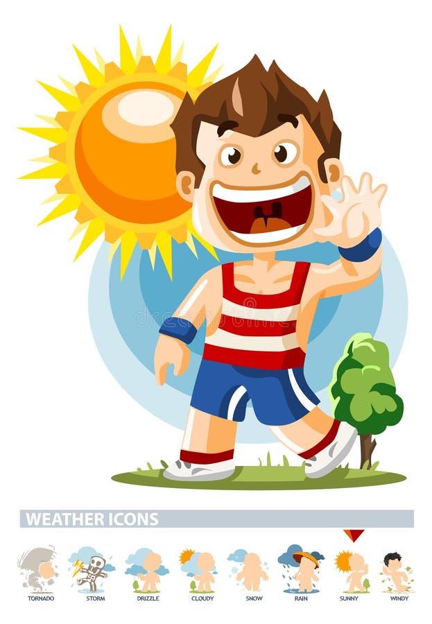 soligt väder för symbol royaltyfri illustrationer