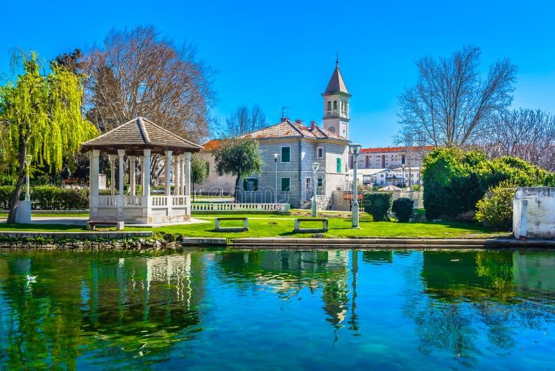 Solin town in Croatia, european travel places. stock photos