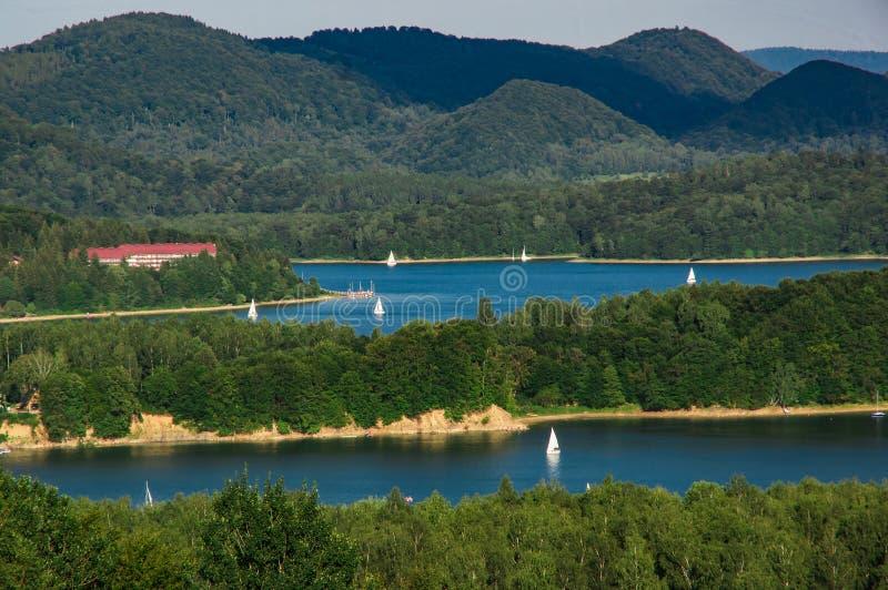 Solina Lake foto de archivo libre de regalías
