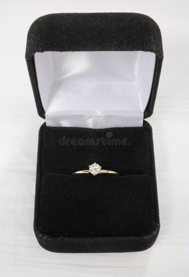 solitaire диаманта стоковое изображение