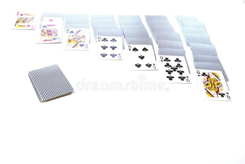 solitaire игры стоковое фото rf
